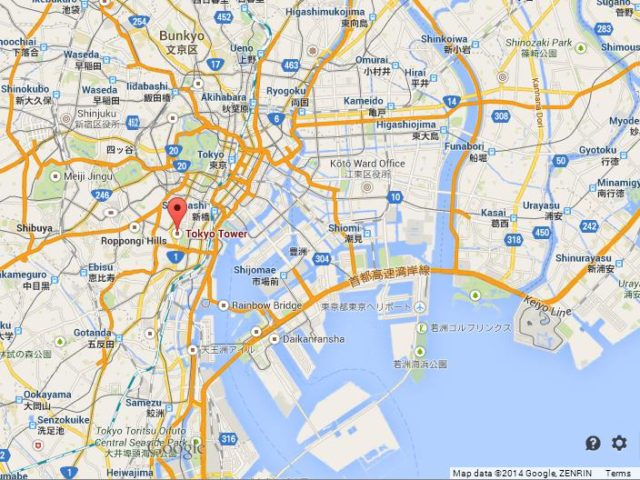 Tokyo Tower Map Tokyo Tower huge structure | World Easy Guides