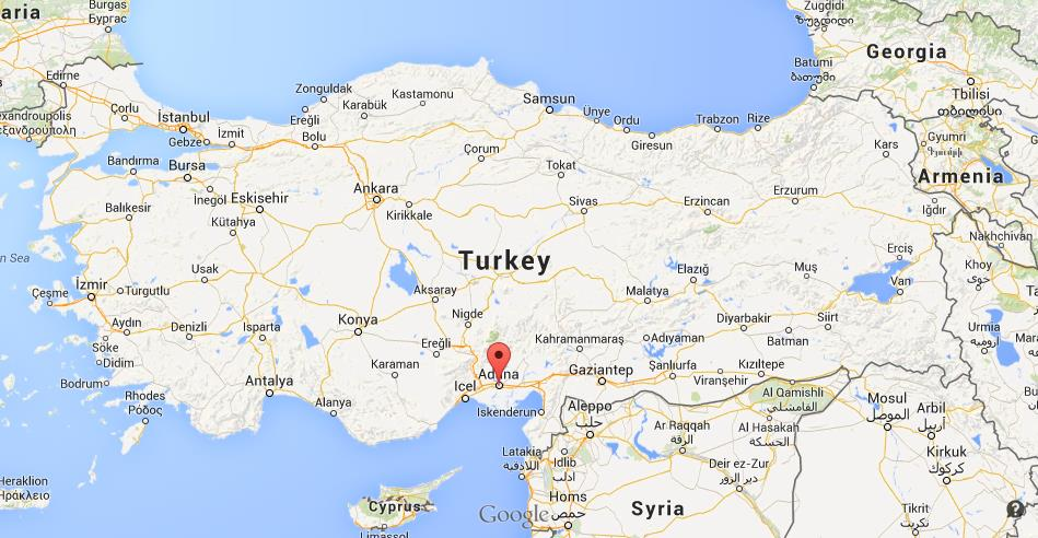 Where is Adana map Turkey