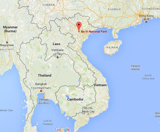 Where is Ba Vi National Park on map Vietnam