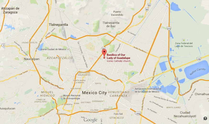 Where is Basilica of Guadalupe on map of Mexico City – Mexico City on Map