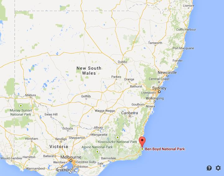 Where is Ben Boyd National Park on Map of New South Wales