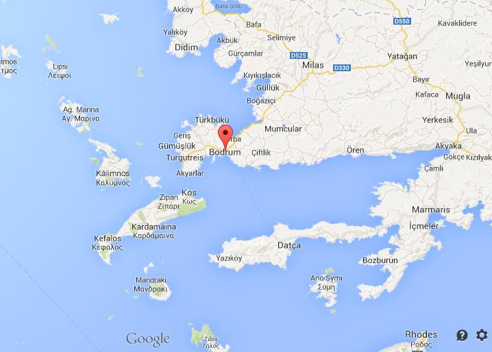 Where Is Bodrum On Map Of South