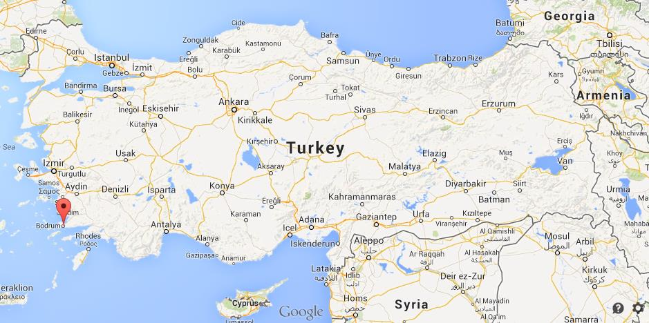 Where is Bodrum on map of Turkey World Easy Guides