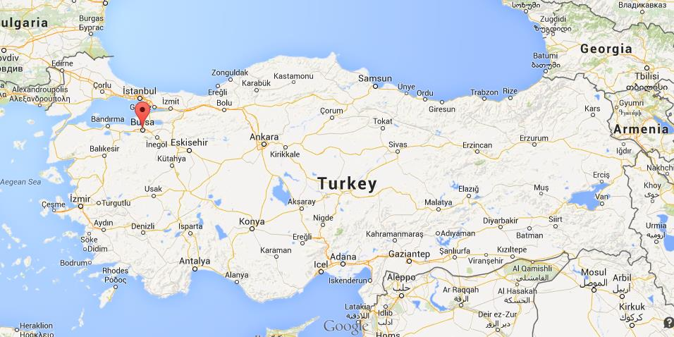 Where is bursa map turkey gumiabroncs