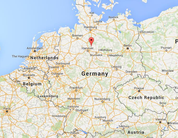 Where is Celle on map Germany