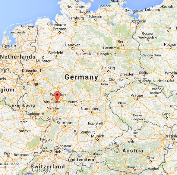Where Is Darmstadt On Map Of Germany