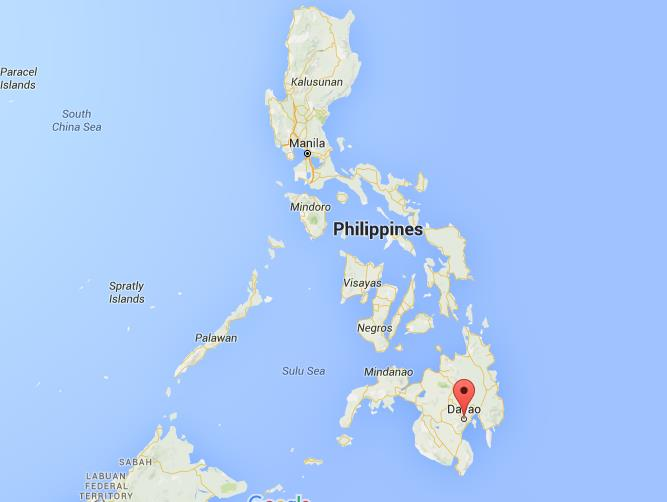 Where Is Davao City On Map Philippines
