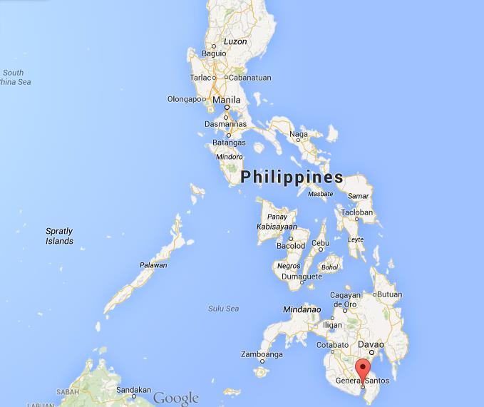 Where is General Santos on map Philippines
