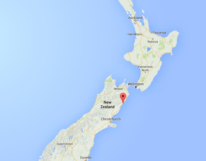 Where is Kaikoura on map New Zealand