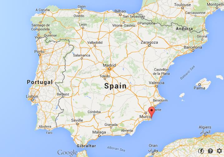 Map Of Spain La Manga.Where Is La Manga De Mar Menor On Map Spain