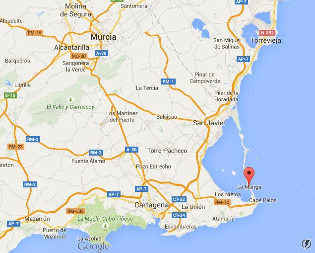 Map Of Spain La Manga.Where Is La Manga On Murcia Region Map