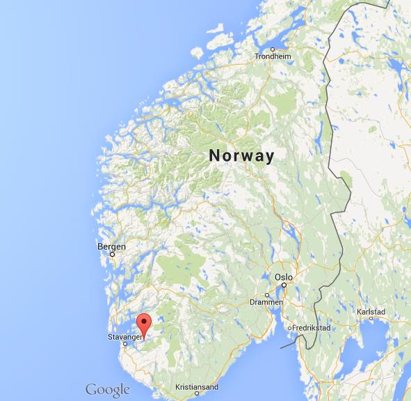 Where is Lysefjord on map Norway World Easy Guides