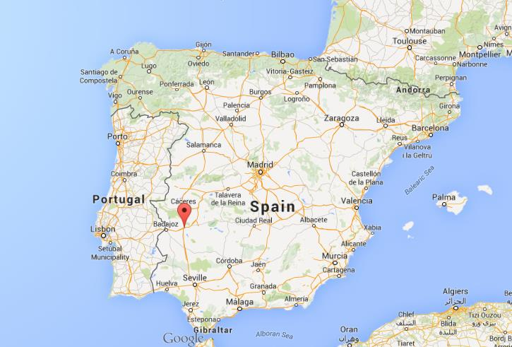 Where is Merida on map of Spain World Easy Guides