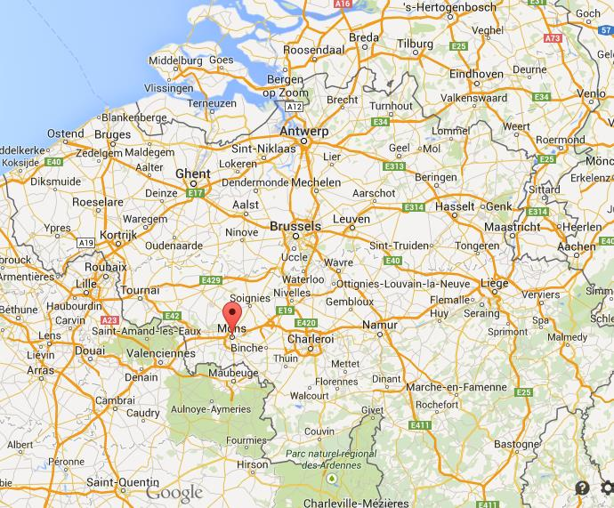 Where is Mons on map of Belgium World Easy Guides