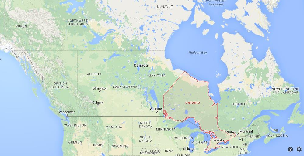 Where is Ontario on map of Canada World Easy Guides