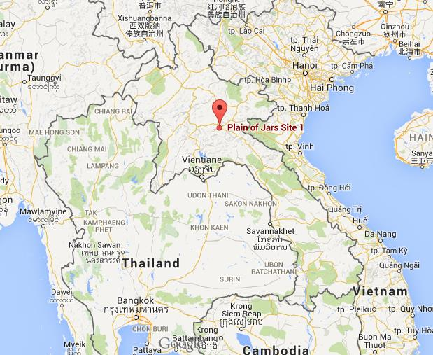 Where is Plain of Jars on map Laos