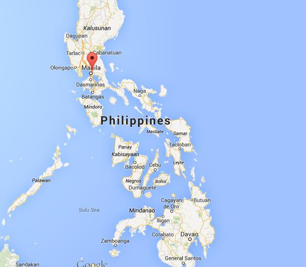 Where is Quezon City on map Philippines