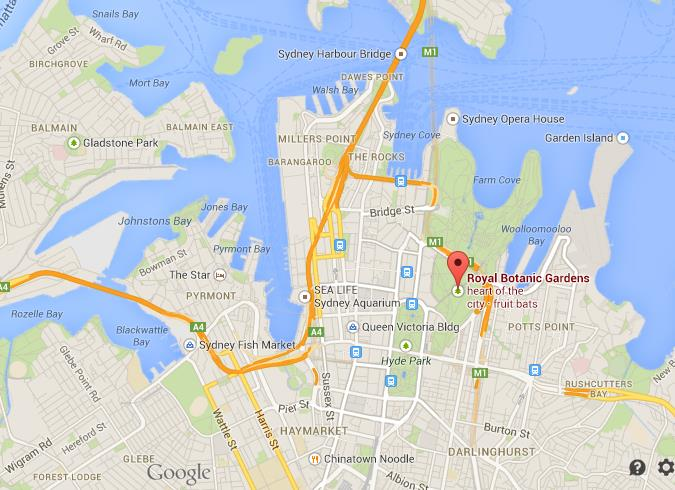 Where Is Royal Botanical Gardens On Map Of Sydney