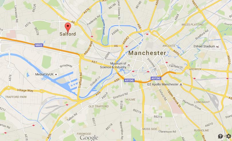 Where Is Salford On Map Of Manchester  World Easy Guides