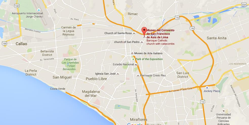 Where Is San Francisco Convent On Map Lima World Easy Guides - Where is lima