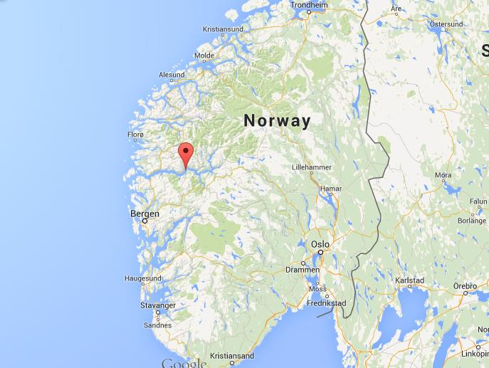 Where is Sognefjord on map Norway