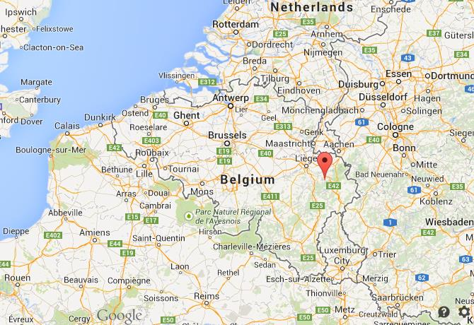 where is spa on map of belgium