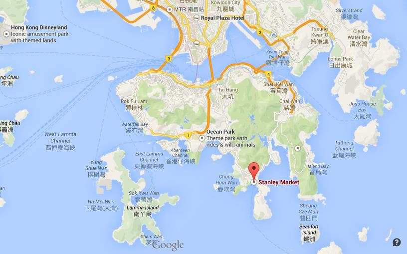 Where is Stanley on map of Hong Kong