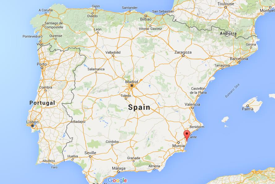 Where Is Torrevieja On Map Spain