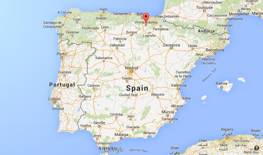 Where is Vitoria on map of Spain World Easy Guides