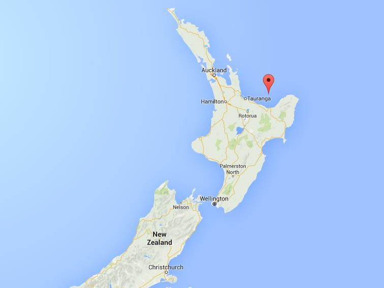 Where is White Island on map New Zealand