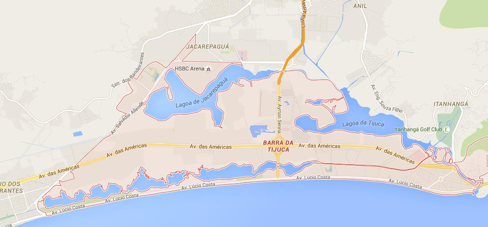 map of barra da tijuca
