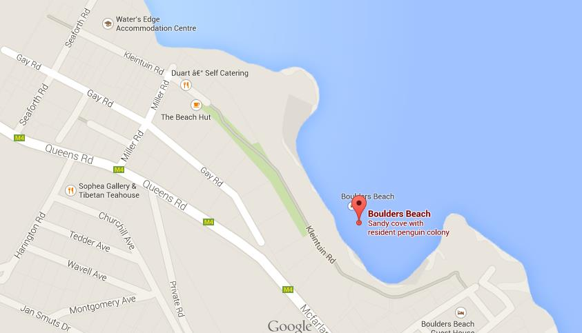 Map of Boulders Beach | World Easy Guides Happy Italy