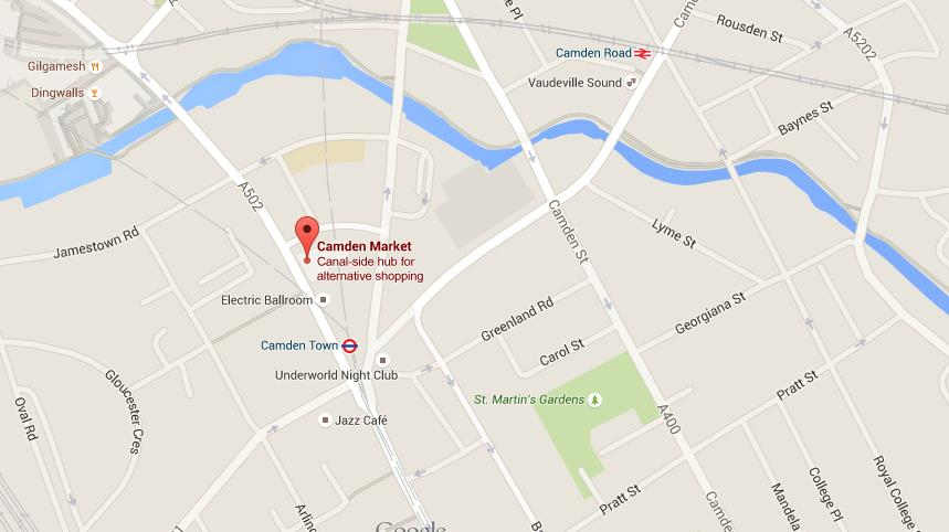 Map of Camden Market World Easy Guides