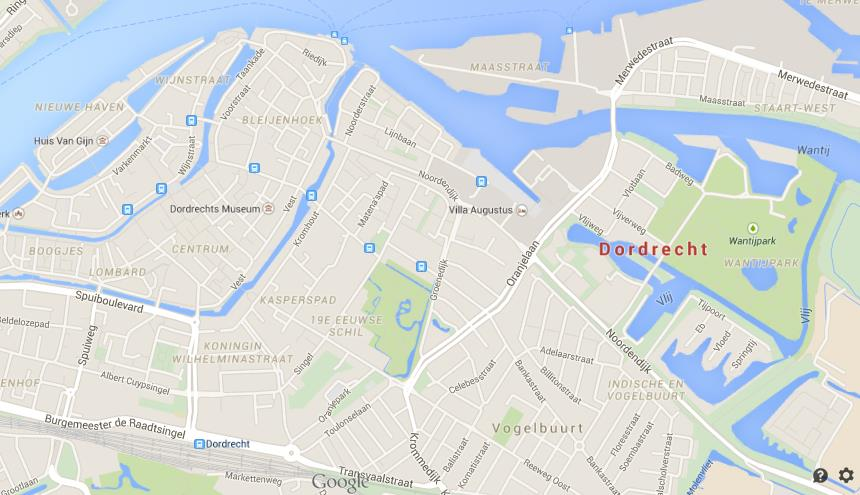 Map of Dordrecht World Easy Guides