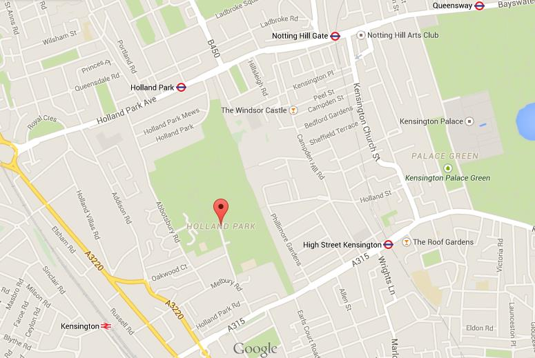 map of holland park