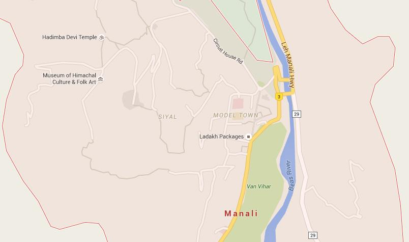 Manali India Map.Map Of Manali