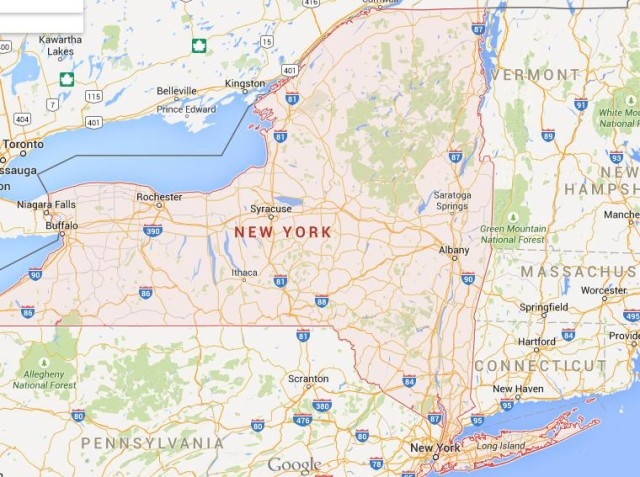 Map Of New York State Usa.New York State World Easy Guides
