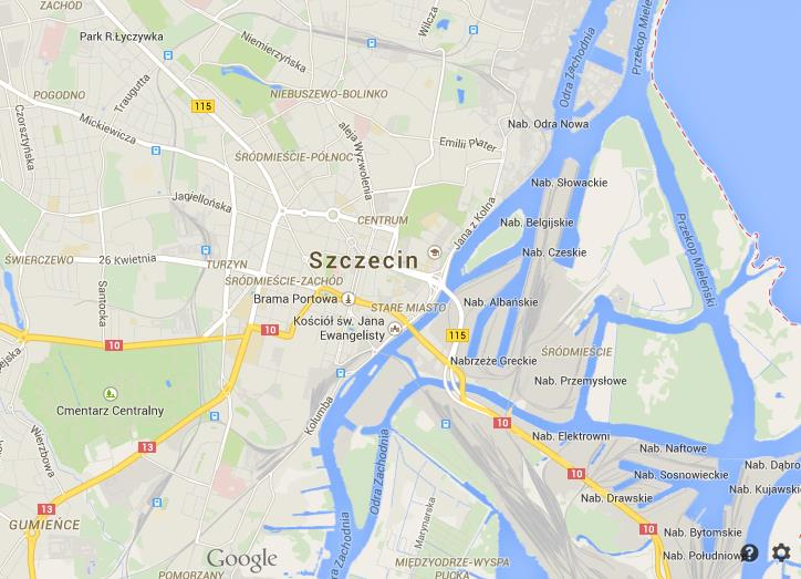 Map of Szczecin World Easy Guides