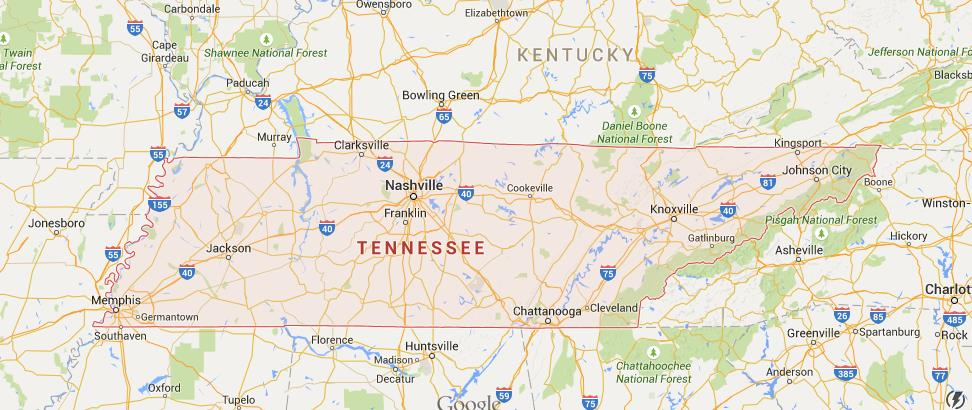 Map of Tennessee Tennessee In Usa Map on