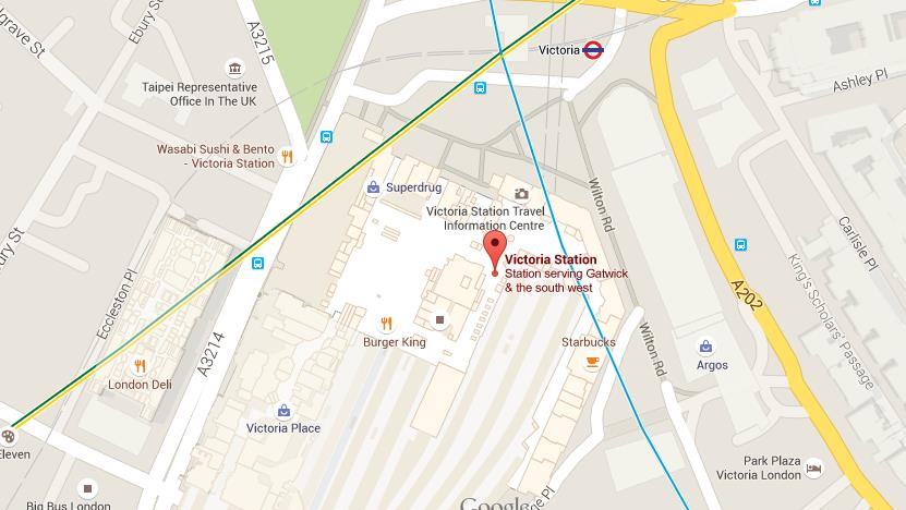 map of victoria station