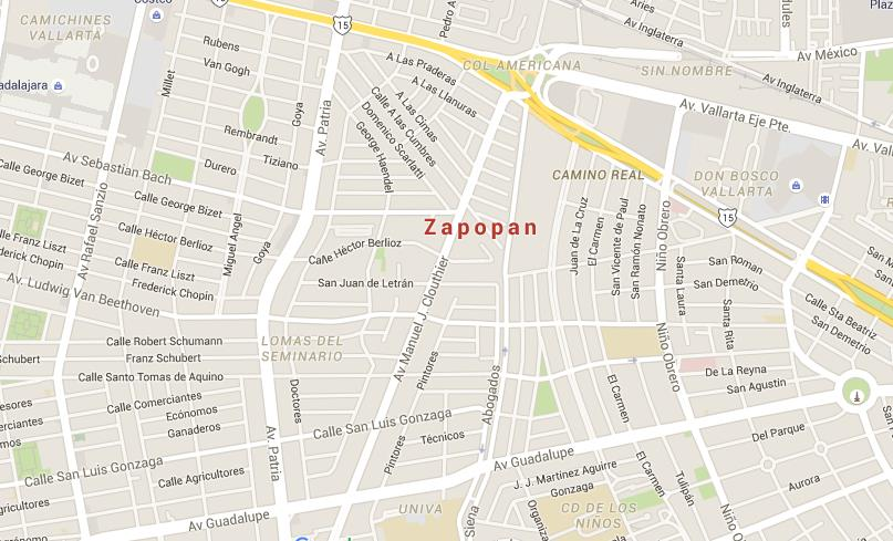 Map of Zapopan World Easy Guides