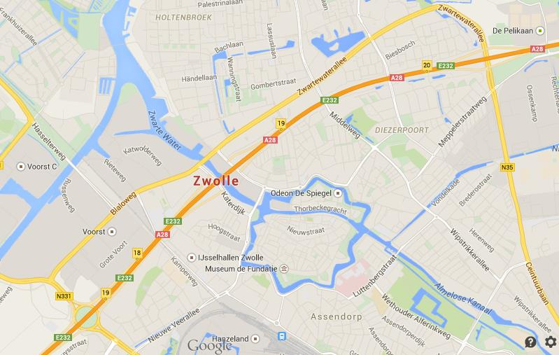 Map of Zwolle World Easy Guides
