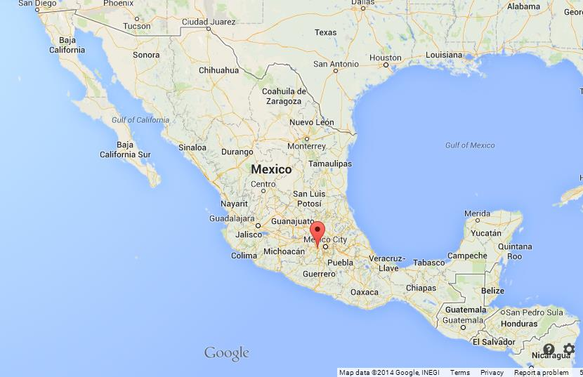 Toluca on Map of Mexico World Easy Guides