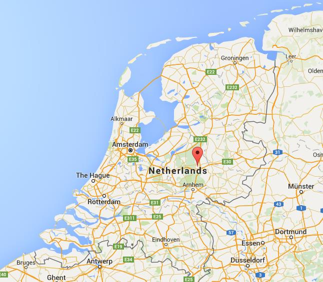 Where is Apeldoorn on map Netherlands