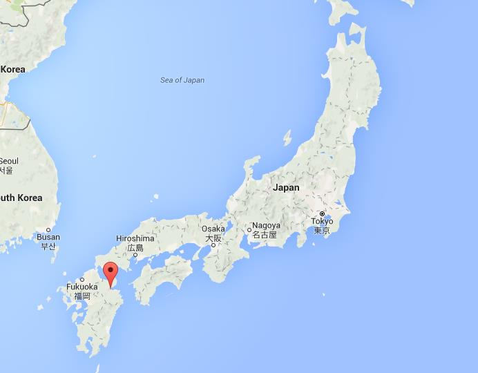 Where is Beppu on map Japan