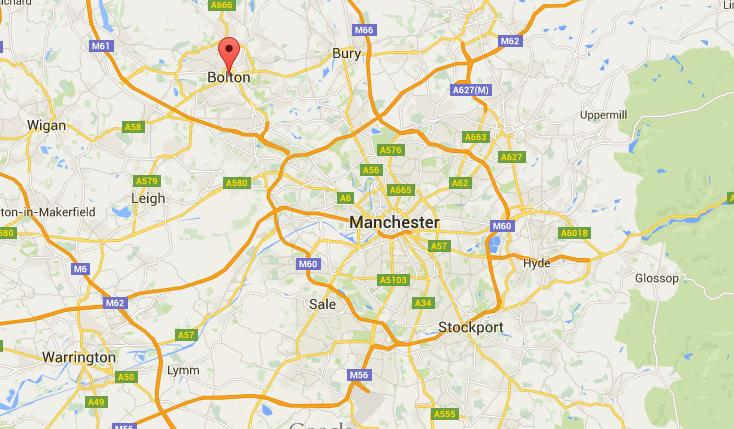 Where is Bolton on map Greater Manchester World Easy Guides