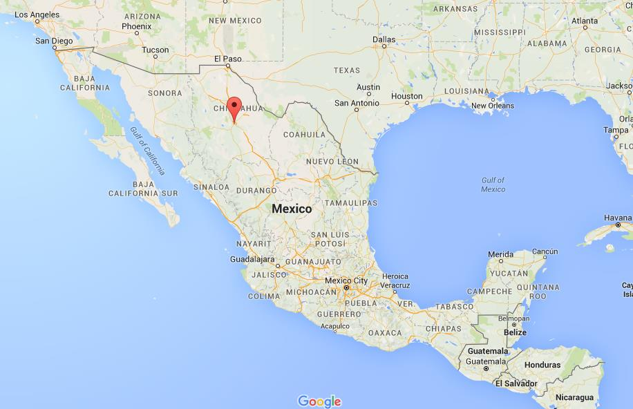 Where is Chihuahua on map of Mexico on