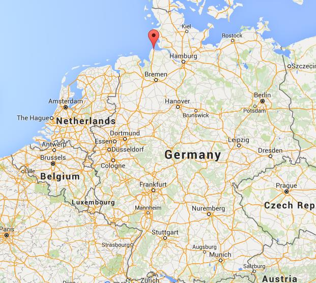 Where is Cuxhaven on map Germany