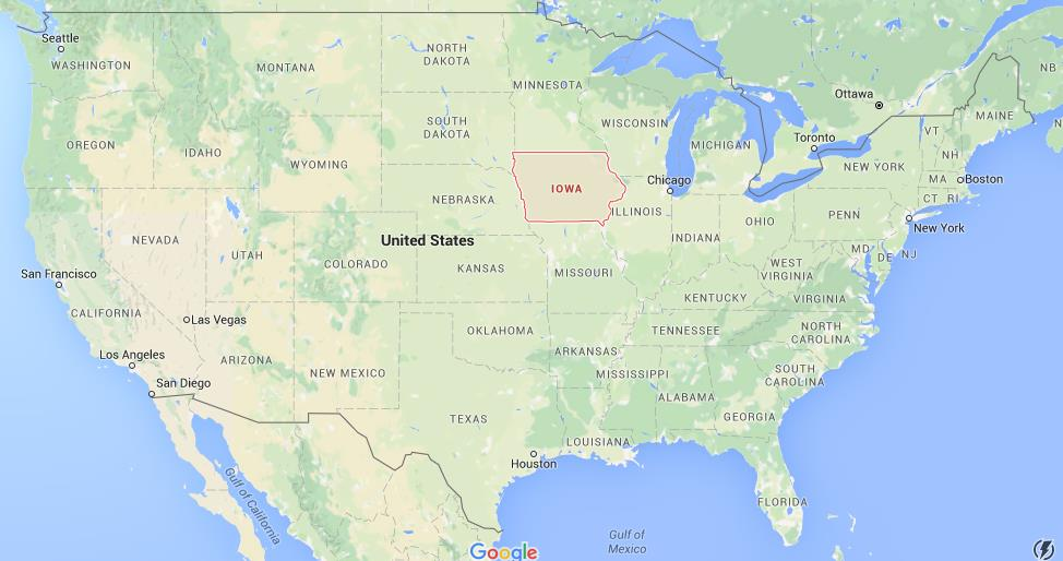 Where Is Iowa On Map USA World Easy Guides - Iowa usa map