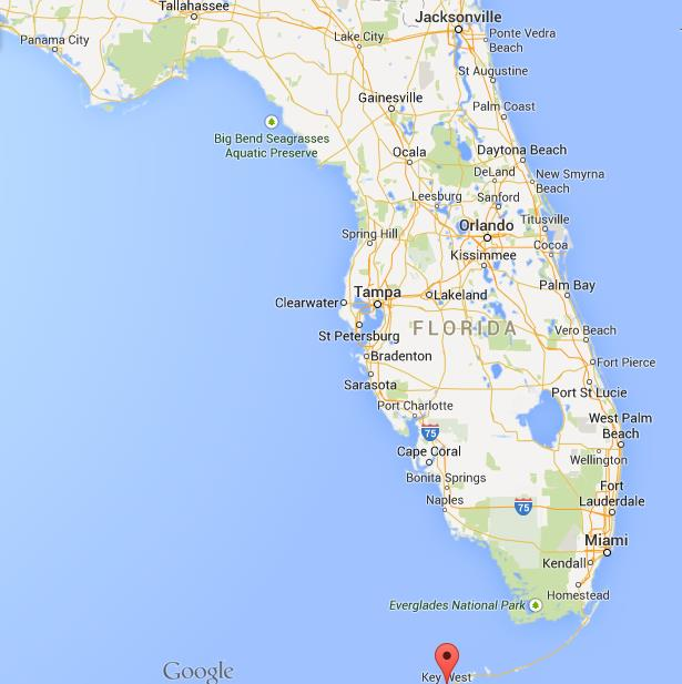 Where Is Key West On Map Of Florida